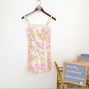Lilly Pulitzer Pink Mini embroidered Dress size 0
